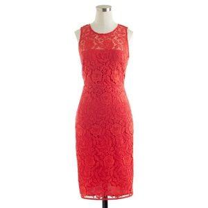 J.Crew Collection Lace Sheath Dress EUC